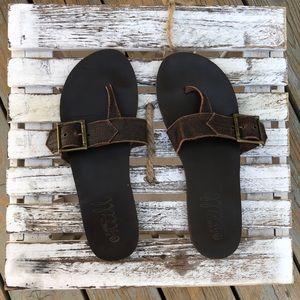O'Neill flip flops brown size 8 &1/2